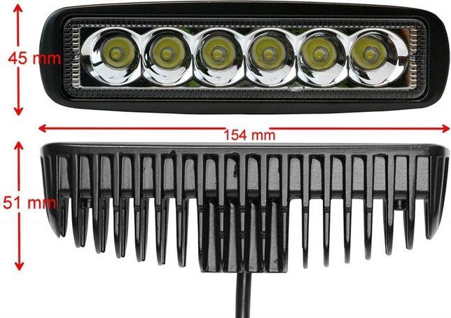 Proiector Led Bar Auto Offroad 18W Proiectoare Auto 12/24V SUV ATV