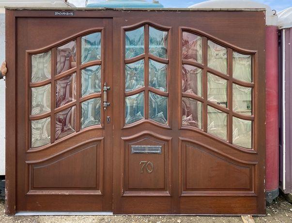 Usa casa vila firma traditionala lemn  geam termopan H 214 x L 269
