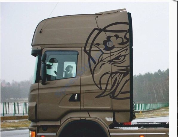 Set Stickere Laterale Scania Gigant HighLine, King of the Road, Grifon