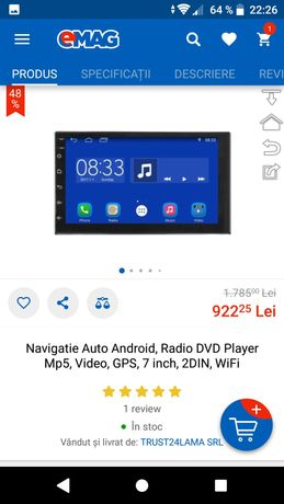 "Navigatie 2din Android 10 Player GPS Navigation 7"" wase igo google map"