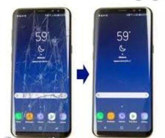 Дисплей-стекло с заменой.Samsung:S20/S10/S9/S8/S7/S6/Note/A30/A50/A51