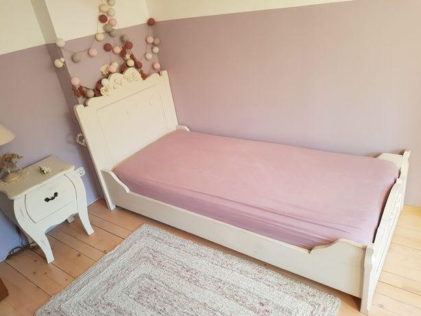 Mobila dormitor, vintage pat noptiera secretair