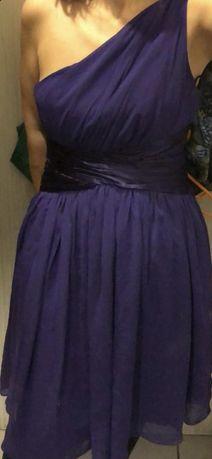 Rochie de ocazie, revelion violet, pe un umar 38-40