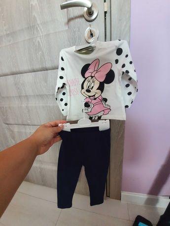 Рокля и комплектче Minnie mouse- 80 см. Нови с етикет