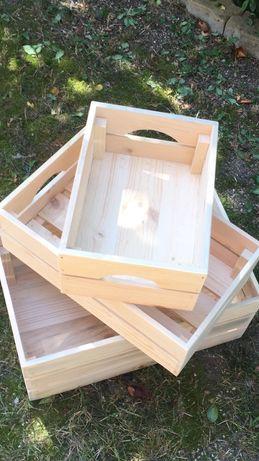 Сет от три дървени щайги(касетки)