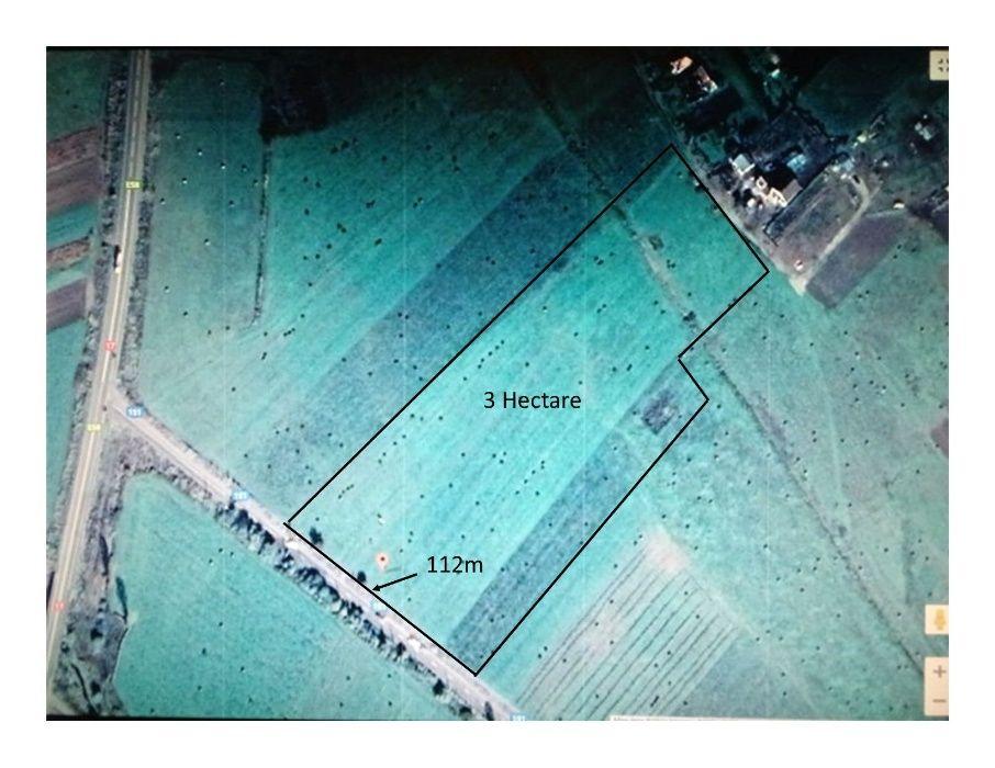 URGENT ! Vand 3 Hectare Teren cu Deschidere Mare la Sosea 112 m Latime Bistrita - imagine 1