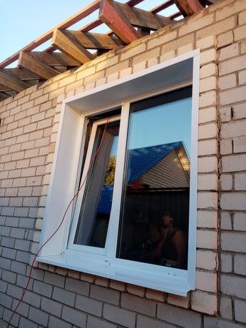 Пластиковые окно двери и балкон ветраж