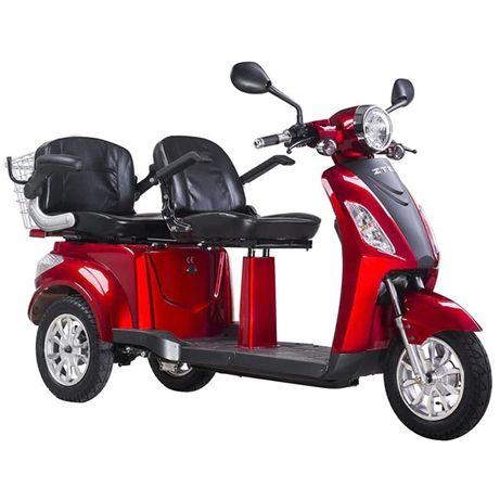 Tricicleta Electrica Z-Tech ZT-18 Rosu Visiniu, 1000W, 2 LOCURI, NOU !
