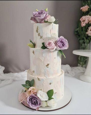 Свадебные торты, 2х, 3х ярусные торты