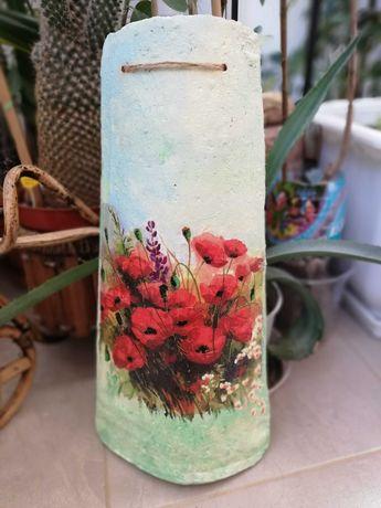 Декупаж на керемиди и бутилки, свещи за Коледа и Св. Валентин