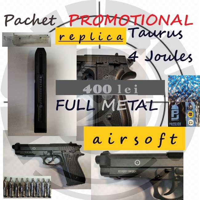 Pachet PROMOTIONAL Taurus- Beretta  METAL 4Joules airsoft