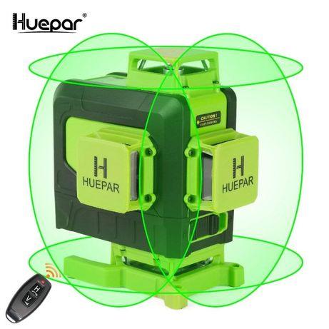 Nivelă laser Huepar 904DG 4D, fascicul verde cu 16 linii