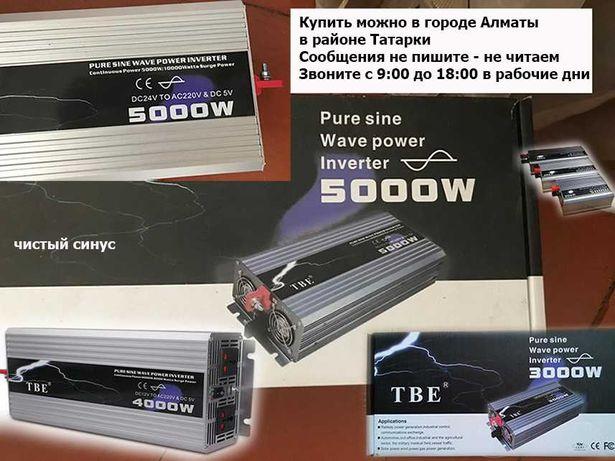 inverter преобразователь напряжения 12/24 на 220 чистый синус инвертор