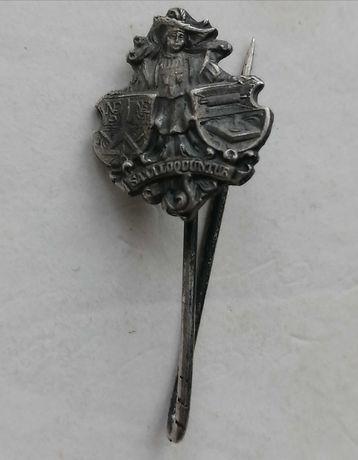 Стара редка сребърна значка с латинска сентенция SAM LOQUUNTUR