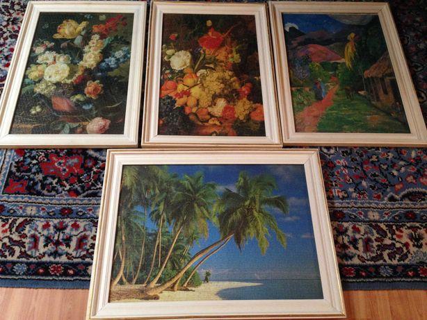 Tablou Antichitati puzzle fructe, ghiveci, taranul la munte, plaja