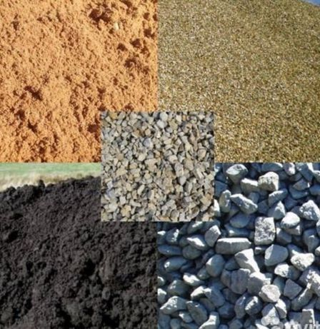 Отсев, песок, щебень, глина, ПГС, ГШС, балласт