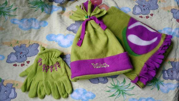 2 нови к-кта шапка, шал и ръкавици на Disney, 2-3 год.