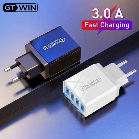 Зарядное устройство Fast Charge Быстрая зарядка QC3.0 USB шнур