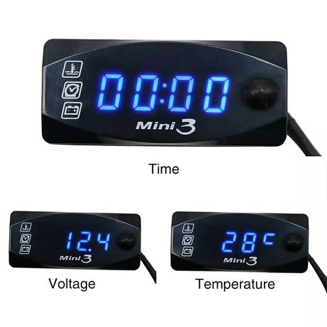 Качествен дигитален часовник термометър волтметър