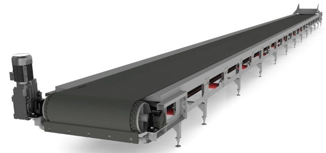 Ленточный транспортер для зерна и сыпучих материалов