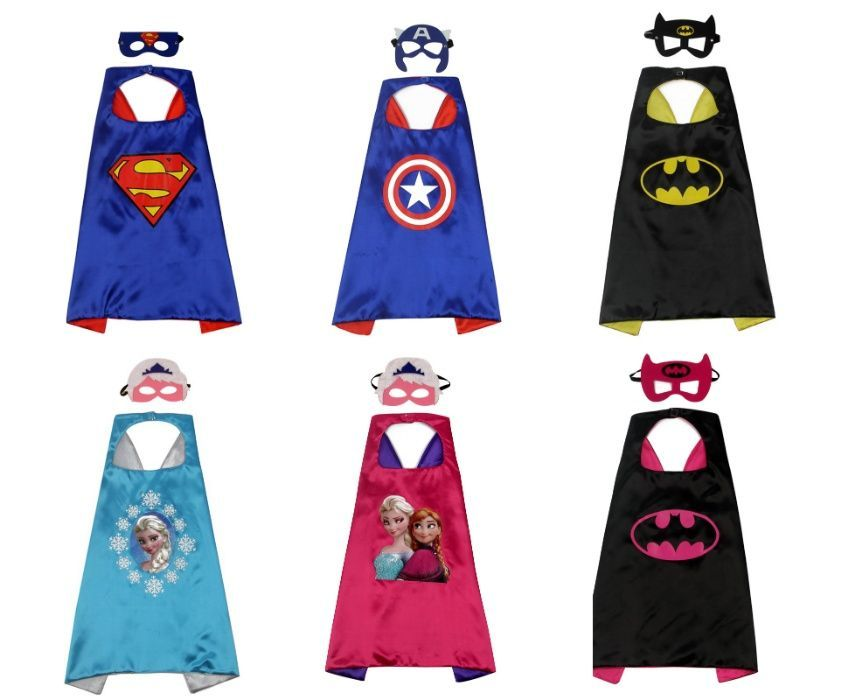 Костюм Наметало и Маска Супергерои Батман Елза Супермен Капитан Америк