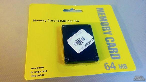 Карта памет за сони плейстейшън 2-Memory Card playstation-64mb Ps2