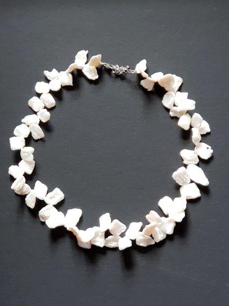 Colier din perle baroc plate de cultura , de apa dulce