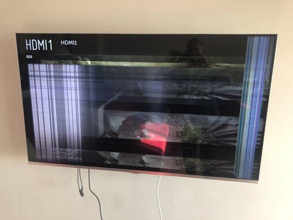 Продавам 3д телевизор за части пукнат дисплей