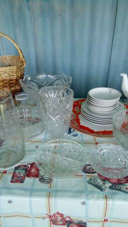 Продается разная посуда, хрусталь, тарелки. новая и б.у.