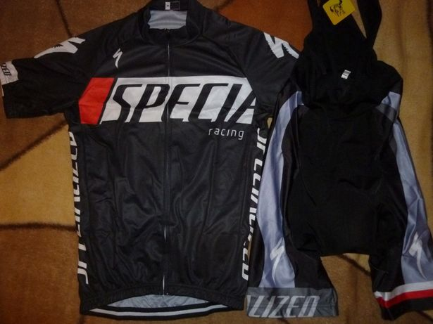 Echipament ciclism Specialized negru 2021 set pantaloni tricou