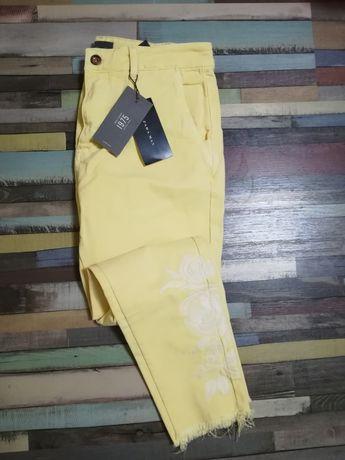Blugi skinny Zara Man yellow