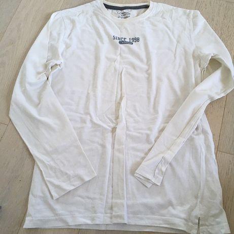 Tricou cu maneca lunga, alb, bumbac organic