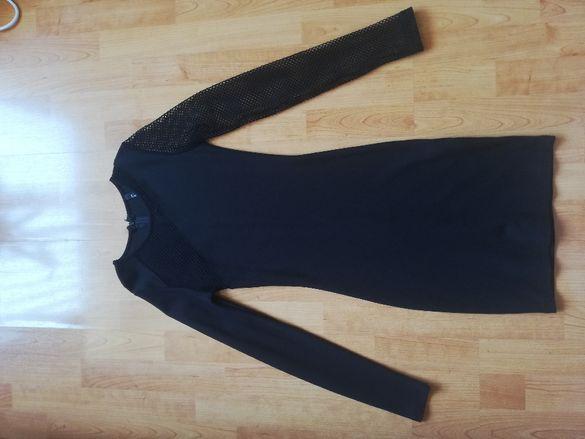 Черна спортно елегантна рокля