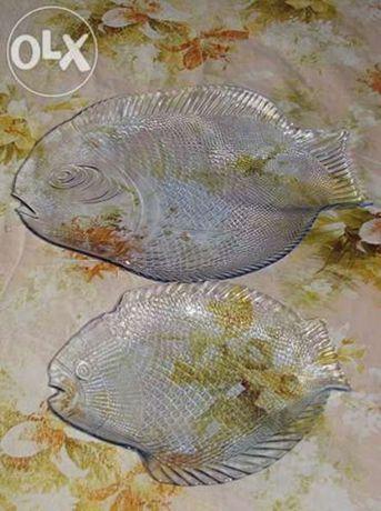 Блюдо-салатник в виде рыбки, набор.