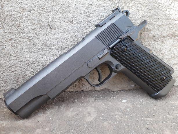Full Metal 4.5j upgradat Colt 1911+CADOU CO2 bile cutie pistol airaoft
