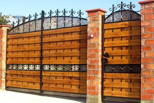 Garduri si porti stil jaluzele, fier forjat, sipca, BCA, plasa, placi