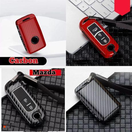 Карбонов калъф за ключ Mazda 2 3 6 Atenza Axela CX8 CX5 CX7 CX9 CX4 30