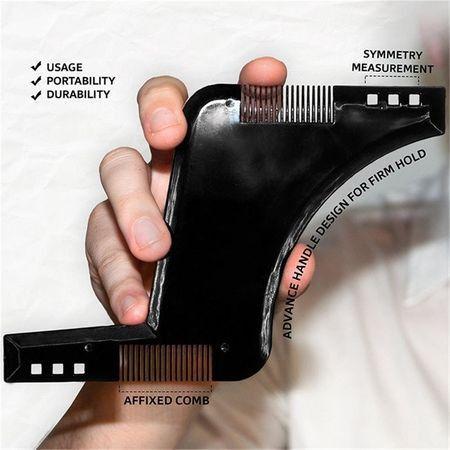 Pieptene Contur Barba & Mustata PRO / Sablon pentru Barba & Mustata