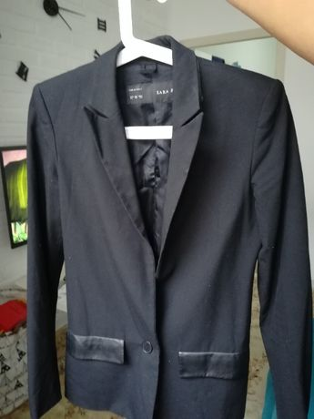 Пиджак со вставками под кожу Zara