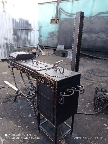 Мангалы, скамейка столы качели