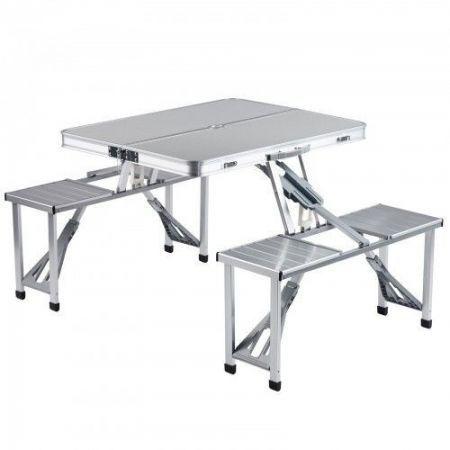 Masa Pliabila cu 4 scaune din aluminiu, pentru picnic