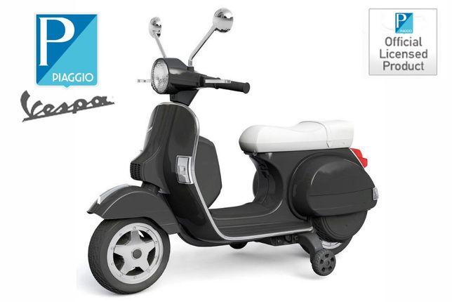 Scuter electric pentru copii Piaggio PX150 PREMIUM #Negru
