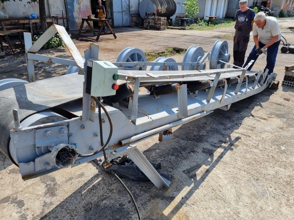 Лентов транспортьор с вграден мотор-редуктор- Рециклиран