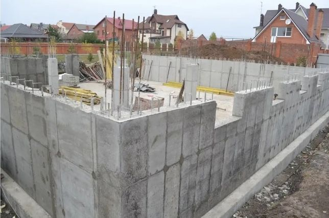 Заливка фундамент монолит строим с котлована дома котеджы таунхаусы