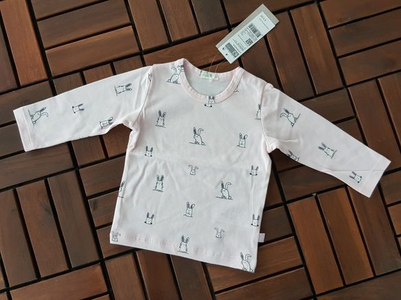 BENETTON-3-6/6-9 месечно бебе-бебешка блузка с дълъг ръка