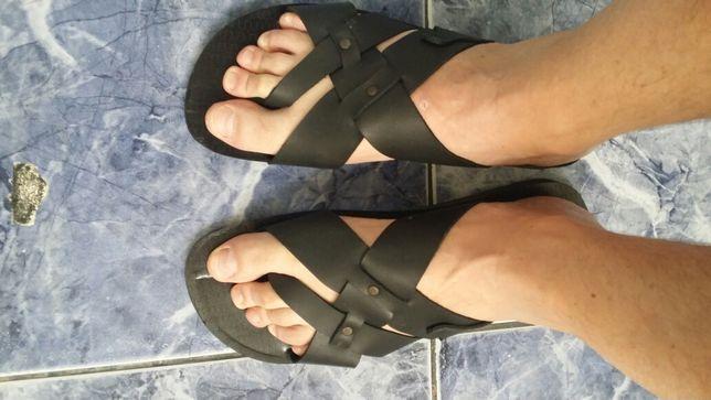 Papuci Piele Naturala 43