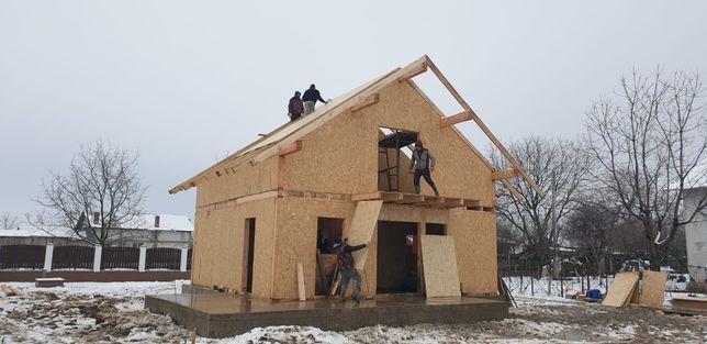 Construim case de lemn uscat, triplu tratat, oriunde in Romania si EU