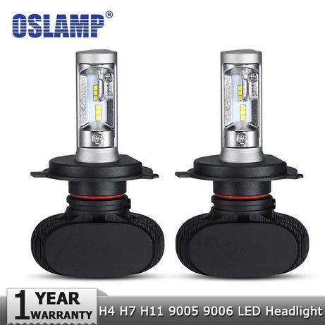 Oslamp Hi lo Car LED Bulbs H7 H4 100W 8000LM 6500K /Лед крушки Х7 Х4