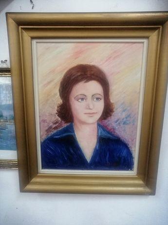 Tablou, portret Regina Angliei panza, pictor Timofti