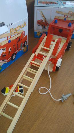 Нов модел голяма разтегателна дървена пожарна / играчки от дърво